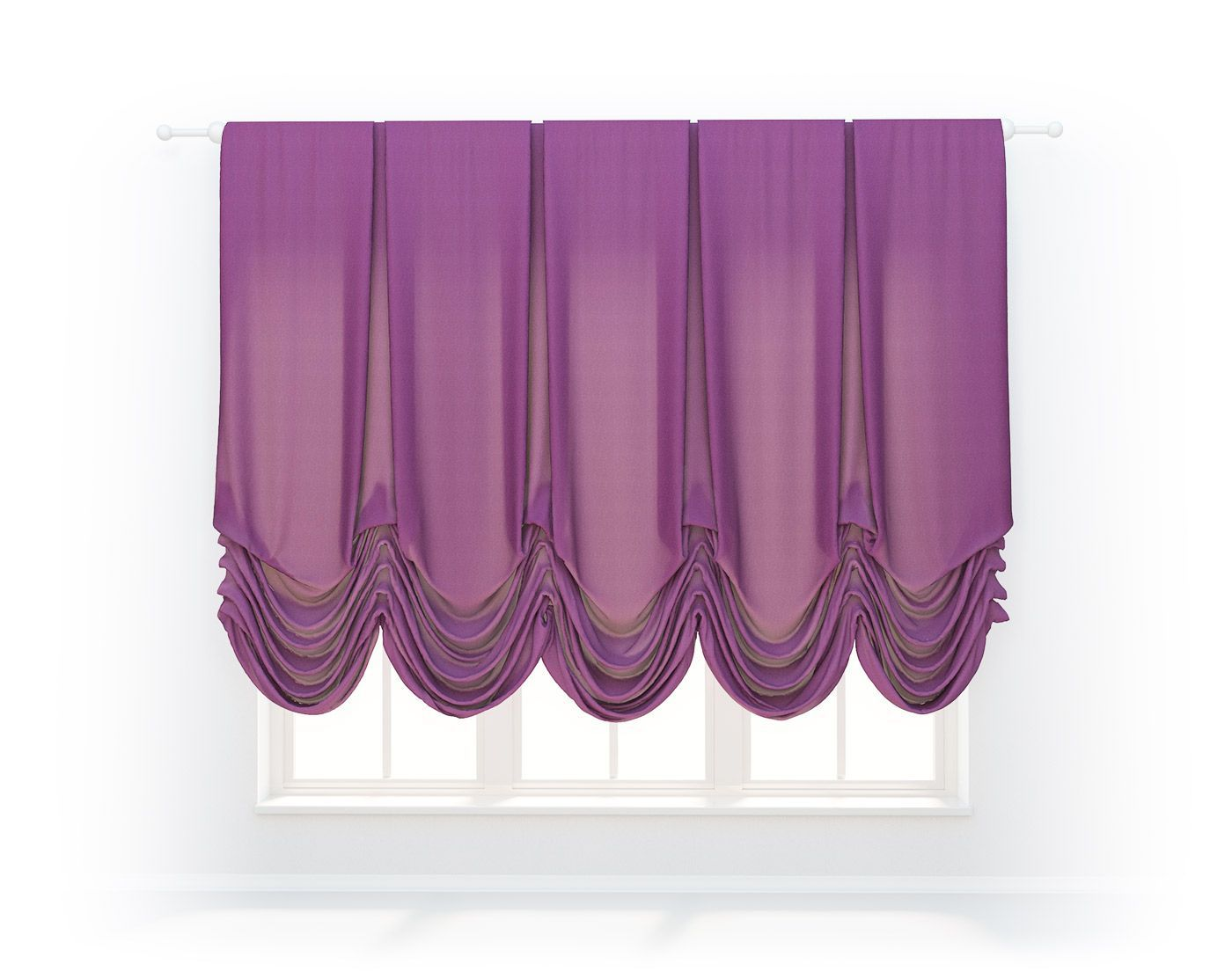 Austrian curtain panels